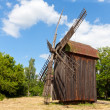 Old windmill on rural meadow — Stock Photo