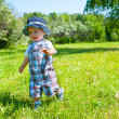 Toddler in a park — Stock Photo