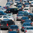 Traffic jam on the road — Stock Photo