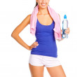 Beautiful young fitness trainer — Stock Photo #11378361