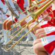Girl Brass Band - Stock Photo