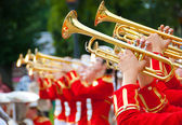 Meisje brassband — Stockfoto