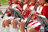 Girl Brass Band — Stock Photo