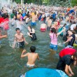 Stock Photo: Water Battle flash mob