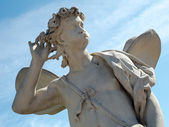 Classic Zephyrus statue at The Upper Garden, Peterhof — Stock Photo