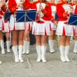 Female Brass Band performing - Stock Photo