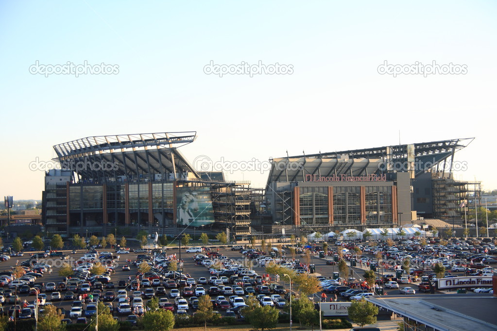 Philadelphia Eagles - Lincoln Financial Field. Home of the NFL football Eagles, located in the South Philly sports complex.  Stock Photo #10762970