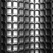 Stock Photo: Abstract silver square pattern 3d background