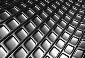 Abstract silver square pattern 3d background — Stockfoto