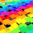 Royalty-Free Stock Photo: Colorful dynamic square background
