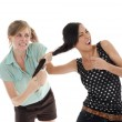 Two women fighting — Stock Photo