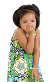 Shy asian girl — Stock Photo