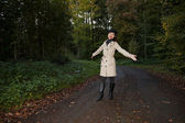 Asian woman in forest — Stock Photo