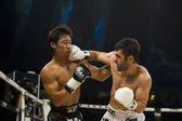 Japanes vs turkish thai boxer in bangkok — Stock Photo