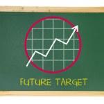 Tafel mit Wachstum Diagramm — Stockfoto