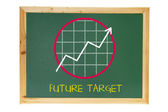 Black Board with Growth Diagram — Stock Photo
