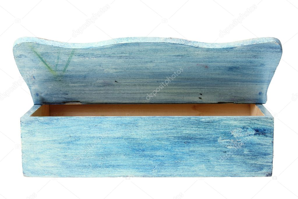 Wooden Box on White Background  Stockfoto #11119749