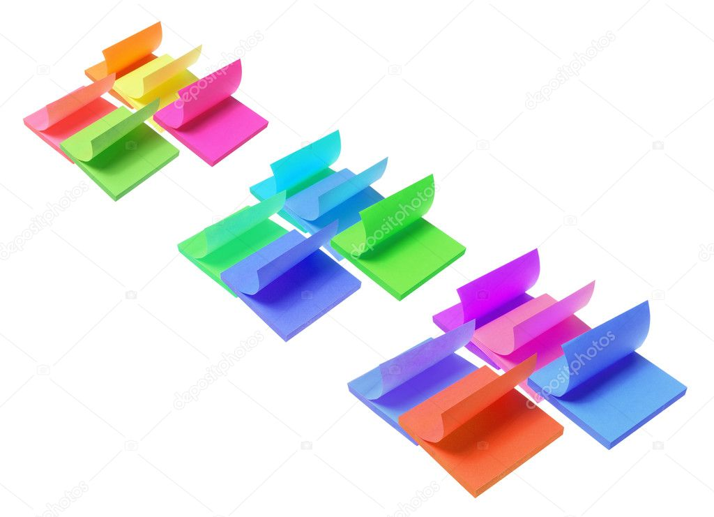 Post-it Notepads on White Background — Stock Photo #11174870