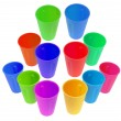 plastic cups — Stockfoto
