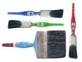 Old Paint Brushes — Stockfoto