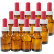 Bottles of Massage Oil — Stock Photo