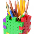 Pencils in Box — Stock Photo