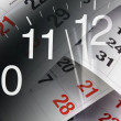 Clock and Calendar Pages - Stock Photo