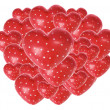 Red Love Hearts - Stock Photo