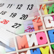 Stock Photo: Calendar and Alphabets