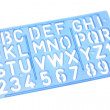 Stock Photo: Alphabet Stencil