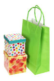 Shopping Bag and Gift Boxes — Stock Photo
