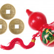 Royalty-Free Stock Photo: Chinese Gourd and Antique Coins