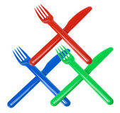 Plastic Forks and Knives — Stock Photo