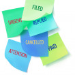 Adhesive Note Papers — Stock Photo
