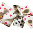 Burnt Playing Cards — Zdjęcie stockowe