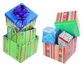 Stacks of Gift Boxes — Stock Photo