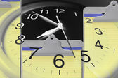 Clock and Clip Boards — Stock Photo