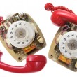 Old Dial Phones — Stock Photo