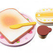 Foto de Stock  : Wooden Toy Breakfast Set