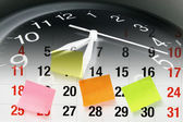 Clock and Calendar Page — Stock Photo