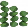 Stacks of Avocados — Stock Photo