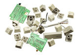 Broken Computer Keys — Stock Photo