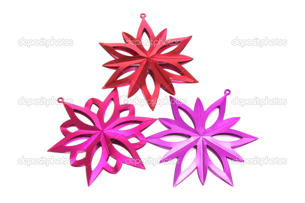 Christmas Decorations on White Background — Stok fotoğraf #12229117