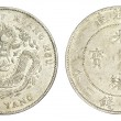 Chinese Dragon coin of 34th Year of Kuang Hsu Reign — Stock Photo
