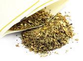 Green tea with lemon grass — Stock Photo