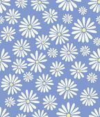Doris Day Flowers on Lavender Seamless Tile — Stock Vector