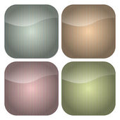 Set of Rounded Square Pastel Stripes Icons — Stock Vector