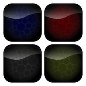 Set of Rounded Square Spots Icons — Stock Vector