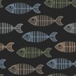 Royalty-Free Stock Vector Image: Seamless Tile With 50s Retro Fish Bone Pattern