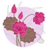 Decorative Lotus flower — Stock Vector